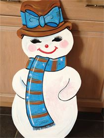 Hand painted snow woman