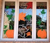 Fall window painting